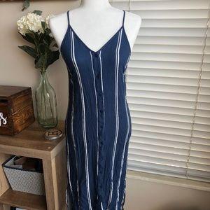 La Hearts Button-Front Midi Dress